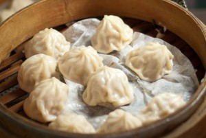 Xiaolongbao or Chinese dumplings.
